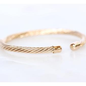 Athena & Co. 22k Gold Plated Charriol Inspired Cable Bangle
