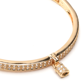 Athena & Co. 22k Love Locks Bangle (Rose Gold) - 3