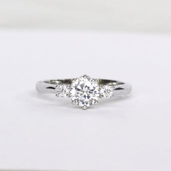 Athena & Co. 22k White Gold Plated Serena Wedding Ring