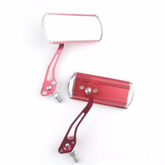 Audie II Side Mirror Red for Motorcycle Alloy - 4