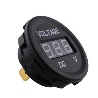 Aukey 12V 24V DC Motorcycle Blue LED Display Voltmeter Socket