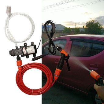 Aukey NEW Portable 70W 130PSI High Pressure Self-Priming Car Wash Pump 12V Clean Set - intl - 4