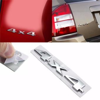 Auto Car 3D New 4 X 4 Chrome Logo Decal Emblem Sticker for JEEP Dodge ABS - 3