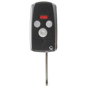 Autoleader 3 Button+Panic Remote Uncut Folding Flip Key Case Shell Keyless For Honda Accord