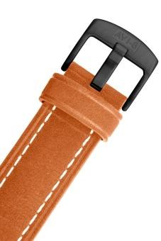 AVI-8 HAWKER HARRIER II AV-4026-05 Men's Orange Genuine Leather Strap Watch - intl - 5
