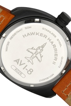 AVI-8 HAWKER HARRIER II AV-4026-05 Men's Orange Genuine Leather Strap Watch - intl - 4