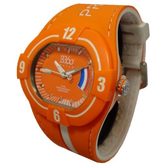 B360 B-Proud NETHERLANDS Men's Orange Dual Colored Silicone Strap Watch - picture 2