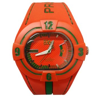 B360 B-Proud PORTUGAL Men's Red Dual Colored Silicone Strap Watch