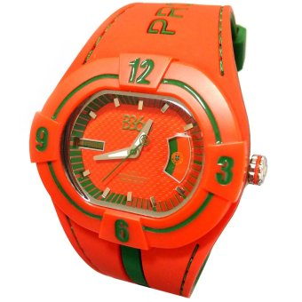 B360 B-Proud PORTUGAL Men's Red Dual Colored Silicone Strap Watch - picture 2