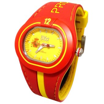 B360 B-Proud Spain Men's Red Dual Colored Silicone Strap Watch - picture 2