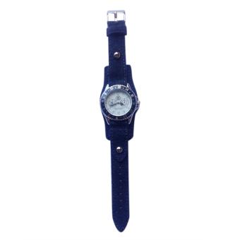 Backs Women's Blue Denim Strap Watch