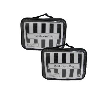 """Balikbayan 20"""" Bag Set of 2 (Black) with Carry-on Bag"""