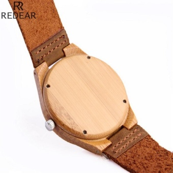 Bamboo pure wood watches for men and women bamboo Watch LeatherWatch - intl - 3