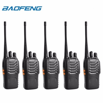 BAOFENG BF-888S UHF FM Transceiver High Illumination Flashlight Walkie Talkie Two-Way Radio SET OF 5