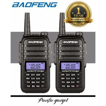 Baofeng UV-6RA Water Resistant Dual Band VHF UHF Two Way Radio Set of 2 (Black)