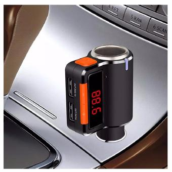 BC09 Wireless Bluetooth Car Charger Hands-free MP3 PlayerFMTransmitter Dual USB (Black/Orange) with Free 3.4A Dual USB FastCar Charger With Voltmeter Monitor, For Any Car And Cellphone - 4