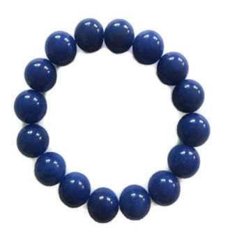 Be Lucky Charms Feng Shui Blue Onyx Big Bead Bracelet - 2