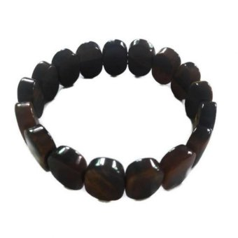 Be Lucky Charms Feng Shui Oval Crystal Tiger Eye Bracelet