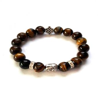 Be Lucky Charms Feng Shui Tiger Eye Silver Plated Medicine Buddhawith Mystic Knot Bracelet