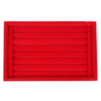 Beauty Jewellery Ring Necklace Display Storage Box Tray Holder Organizer Case-red - Intl