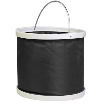 Big Volume Folding Camping Barrel Car Washing Oxford Bucket (Black)