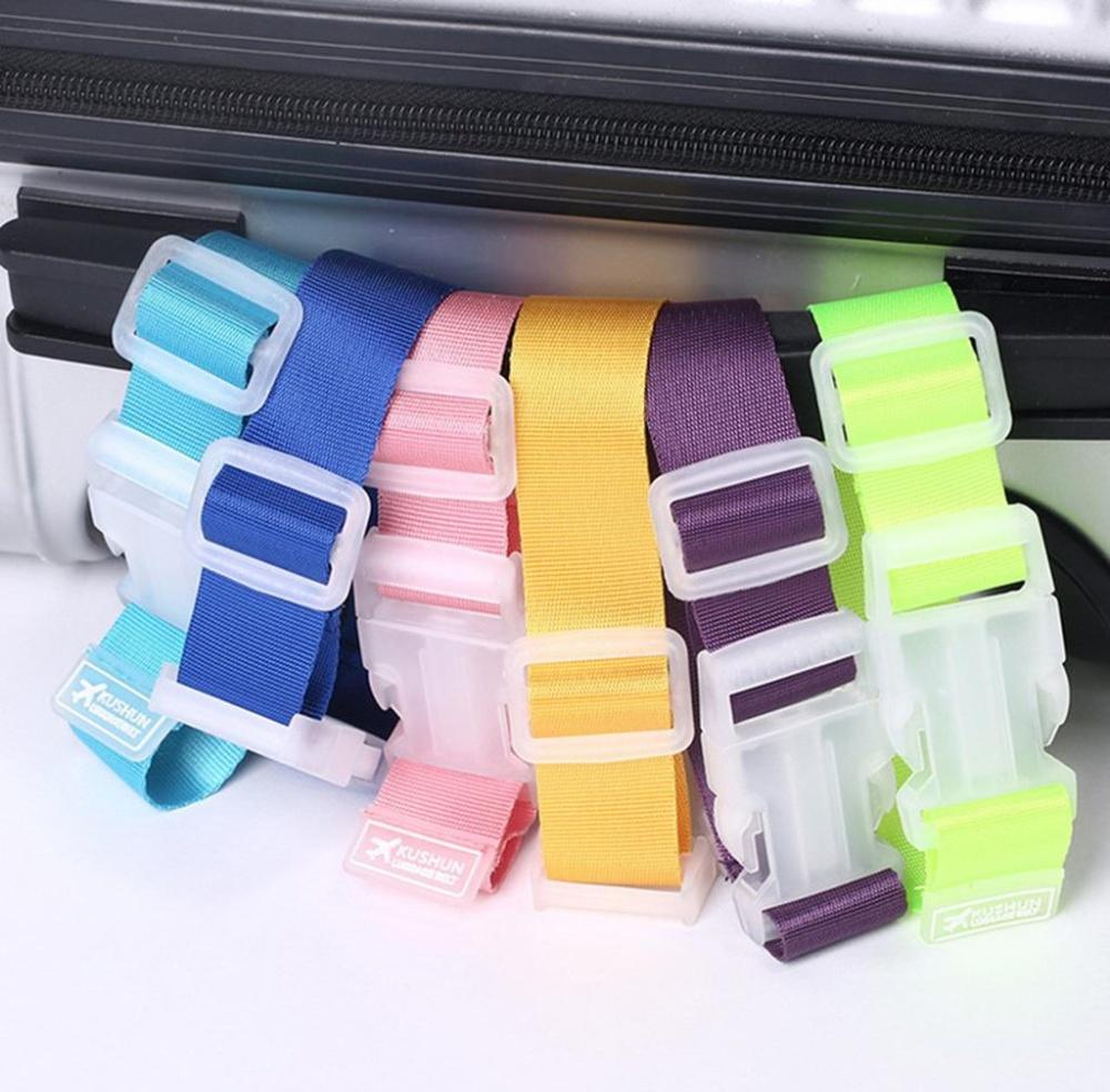 Bigood Add-A-Bag Travel Luggage Strap Suitcase Belts BagAccessories Orange - intl