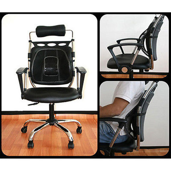 Philippines Black Mesh Lumbar Back Brace Support Office Home Car