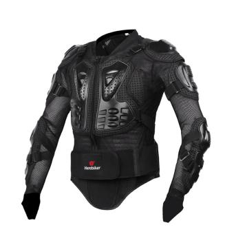 Black Size M Professional Motorcycle Body Protection MotorcrossRacing Full Body Armor Spine Chest Protective Jacket Gear - intl