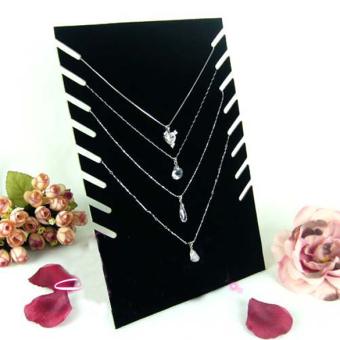 Black Velvet Necklaces Holder Show Case Display Stand Jewelry Display Base (Intl) - picture 2