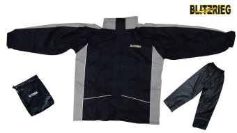 Blitzkrieg(R) MJ-Series MJ-08 Motorcycle Ultra Durable RainCoat &Jacket Set With Pants Touring (Grey) Price Philippines