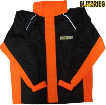 Blitzkrieg(R) MJ-Series MJ-51 Motorcycle Ultra Durable RainCoat &Jacket Set With Pants Touring (Neon Orange) - 3