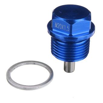 Blue M20 x 1.5 Magnetic Oil Drain Sump Plug Filter For SUBARU IMPREZA WRX STI - 5