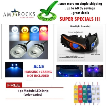 Blue Motorcycle LED Light Eagle Eye Universal DRL Light Bulb for for Yamaha Sniper 150 MXi