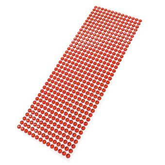 Bluelans® 6mm Dot Crystals Rhinestones Car Decor (Red) - picture 2