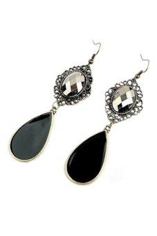 Bluelans Retro Style Long Dangle Earrings (Black)