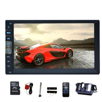 Bluetooth Car GPS Navigation MP5 Player 2 din 7 inch Touch Screen auto radio Stereo Receiver Vehicle Multimedia PC System No-DVD with HD Reverse Camera - intl