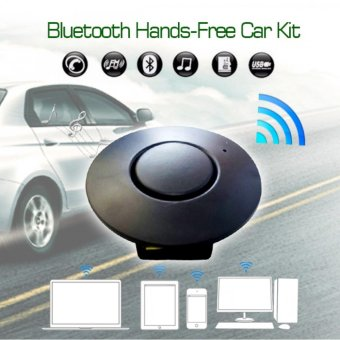 Bluetooth To Car FM Transmitter Hands Free Car Kit (Black)