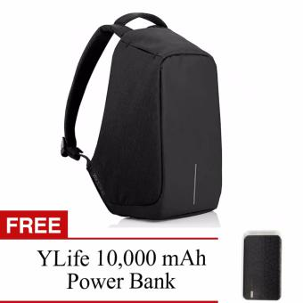 BOBBY Anti-Theft Backpack by XD Design (Dark Blue) With FREE YLife10,000 mAh Power Bank (Black)