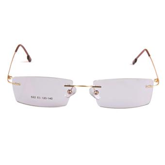 BolehDeals Fashion Metal Rimless Eye Glasses Eyeglasses Gold FrameLightweight - 2