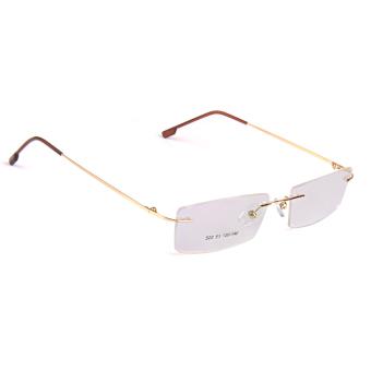 BolehDeals Fashion Metal Rimless Eye Glasses Eyeglasses Gold FrameLightweight - 4