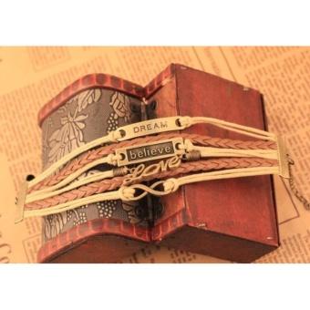 Braided Bracelet Vintage Bracelet Friendship Bracelet Couple Bracelet Layered Bracelet Dream Bracelet Believe Bracelet Love Bracelet Infinity Bracelet Gift Bracelet Unisex Bracelet Charm Bracelet - 2