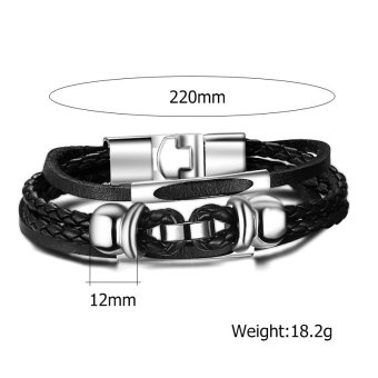 Brand Design Fashion Health Bracelet Bangle Stainless Steel Magnet Jewelry for Men Christmas Gifts - picture 2