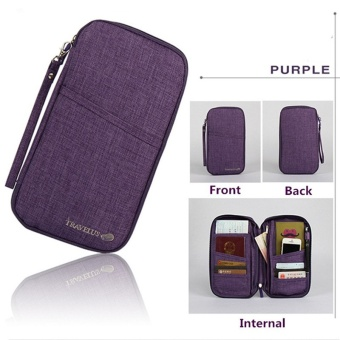 Brand Travel Journey Document Organizer Wallet Passport ID CardHolder Ticket Credit Card Bag Case - intl