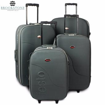 "Brookstone Festorrific Travel Luggage Set of 4 Size (20""/24""/28""/32"") - Gray Price Philippines"