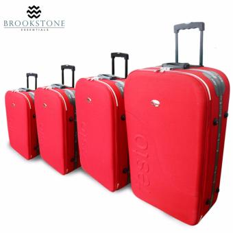 "Brookstone Festorrific Travel Luggage Set of 4 Size(20""/24""/28""/32"") - Red Price Philippines"