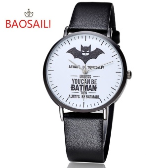 BSL1024 BAOSAILI Brand Batman Design Dial Steel Back Unisex Watch Japan Movement Life Waterproof BSL1024 - intl
