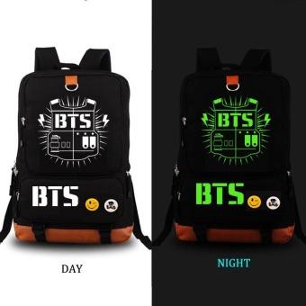 08704e04444e04 bts bangtan boys luminous backpack women men rucksack travel gymlaptop bag  schoolbag(black) –
