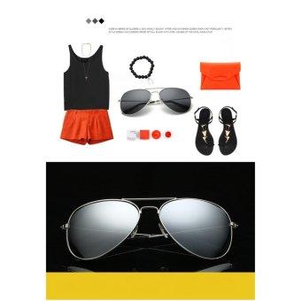 [Buy 1 Get 1 FREE] 2017 New Popular Eyewear Fashion Vintage CoolWomen Brand Designer Sunglasses Retro Men Classic Aviator SunGlasses Mirrored Shades Accessories UV400 - intl - 5