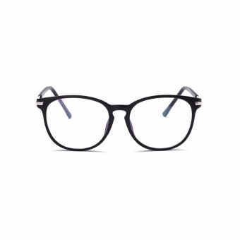 [Buy 1 Get 1 Freebie] AORON Brand Retro Reading Glasses Anti-fatigue Computers Glasses Anti-blue Light Eyeglasses 3631(Black) - intl - 3
