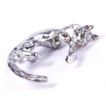 BUYINCOINS 1 PCS Ear Stud Lovely Long Tail Leopard Cat Puncture Women Men Unisex Earring